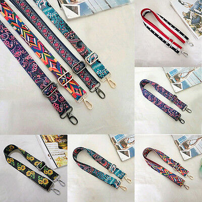 Haimi-hk Women DIY Colorful Cotton Boho Shoulder Bag Handbag Chain Strap Belt