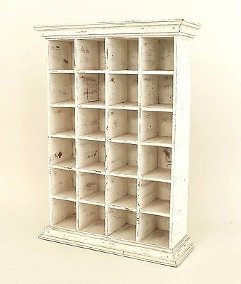 American Country (Victorian) Antique White Painted Apothecary Style Cabinet