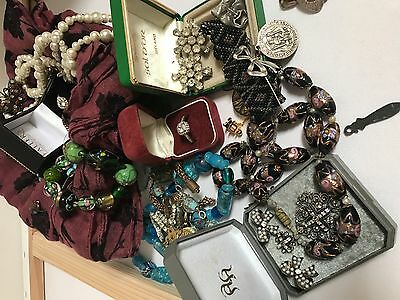 Huge lot of Antique and vintage jewellery