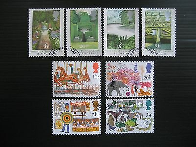 Gb 1983 British Gardens/fairs 2 Full Sets Sg 1223/30 Fine Used Stamps
