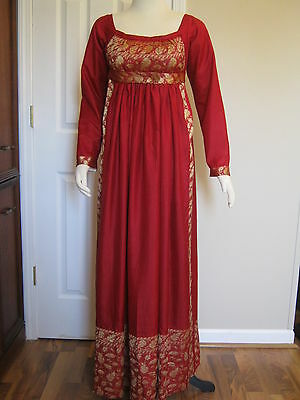 Red Silk Regency Gown