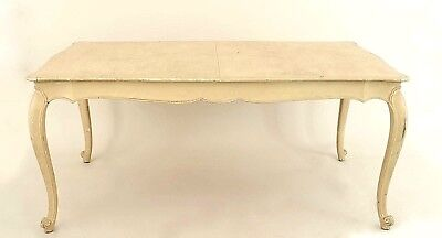 French Provincial (Louis XV Style) (20th Cent.) Off White Painted Dining Table