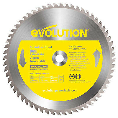 Evolution 14BLADESS 14 X 90T X 1 For Cutting Stainless Steel, Max RPM 1500