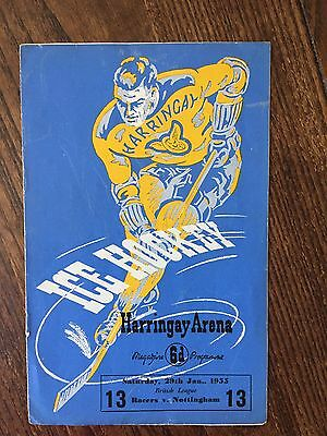 Rare Harrringay v Nottingham Panthers Ice Hockey Programme