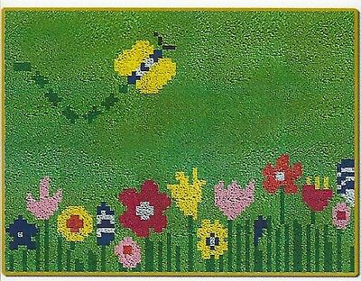 Butterfly Latch Hook Rug Kit - Rug Making - Everything included 52 X 38