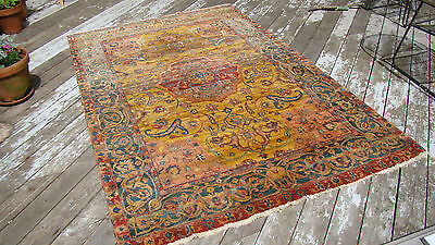 LARGE HANDWOVEN INDO-PERSIAN CARPET / RUG Thick beautiful pile Great color 6x9ft