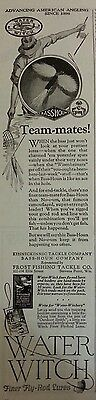 1926 BASS-HOUN WATER WITCH Lures Original Vintage Advertising Fly Fishing Rods