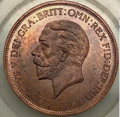 1933 King George V Copper Penny Very Rare British Coin Gap Filler