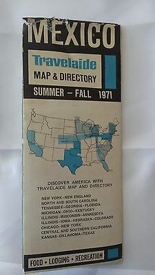 1971 Mexico Travel Guide Road Map & Directory