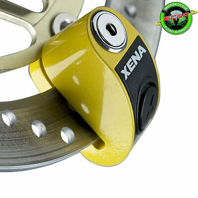 XENA XZZ6-Y MOTORCYCLE SECURITY SCOOTER DISC LOCK ALARM YELLOW Vespa GTS 125