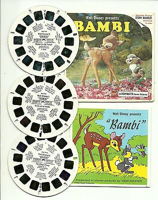 Viewmaster B 400 Disney 's Bambi Clay Figures G1-G2