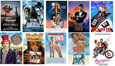 Retro 80's movie poster set  retro party supplies 80's decorations