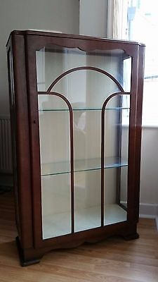 1930s art deco glass display cabinet vintage retro made by c.w.s ltd