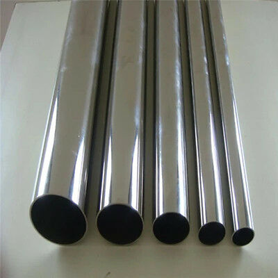 Stainless Steel Tube MIRROR POLISHED 10MM OD 250 to 500mm Long Various W Thick