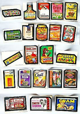 Vintage 1970s Topps Wacky Packages~Lot of 22 Cards~Stickers~Grazin Bran~Cheapios