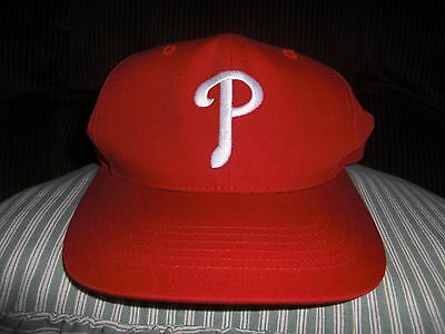 Red Phildelphia Phillies baseball hat unworn Genuine merchandise.