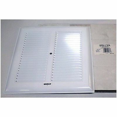 Broan Bath Bathroom Ceiling Fan Grille Grill Cover Metal White Color 97011324