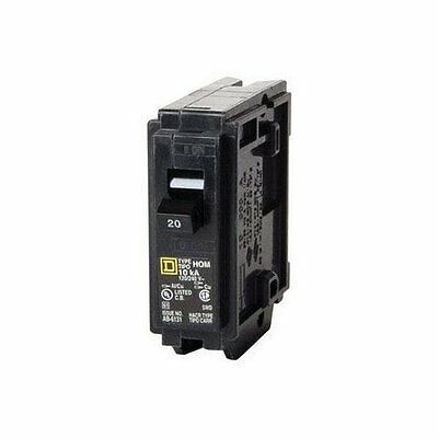 Square D HOM120CP1235 Single Pole Circuit Breaker, 20 Amp