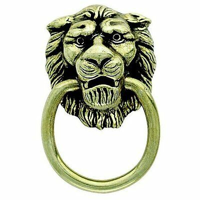 Amerock BP888AE Traditional Classic Lion Head Ring Pull, Antique English