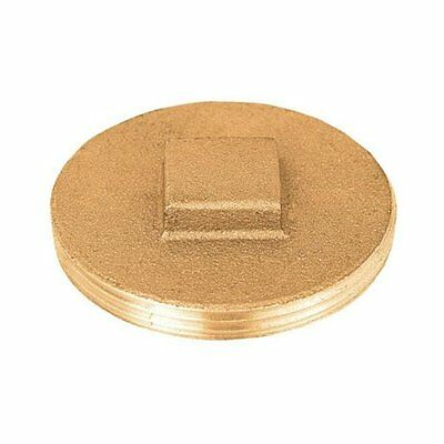 """Sioux Chief 876-35PK Clean Out Replacement Plug, 3-1/2"""", Brass"""