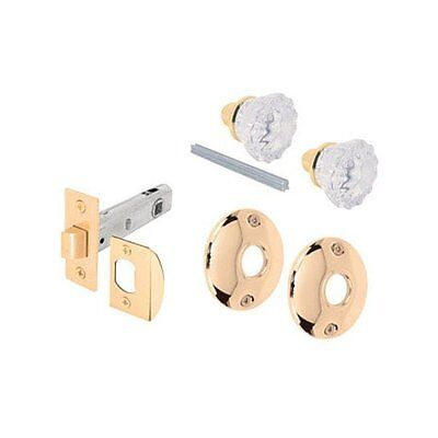 Prime Line Prime-Line E 2317 Glass Knob Passage Door Latch Set, Brass Plated