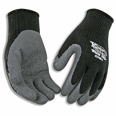 Kinco 1790-L Warm Grip Latex Coated Gloves, Large, Gray
