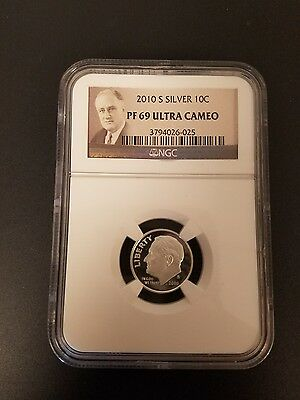 2010 S PROOF SILVER Roosevelt Dime NGC PR69 ULTRA CAMEO  *PRICE REDUCED*