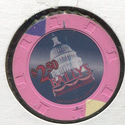 Ballys $2-50 New Orleans LA CG254  Additional Chips Ship for 25c !