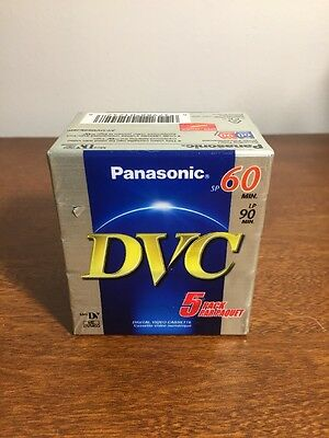 NEW 5 Pack Panasonic DVC SP 60 min Digital Video Cassette Mini DV