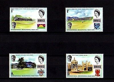Dominica - 1971 - Education Year - School - College - University - 4 X Mint Set!