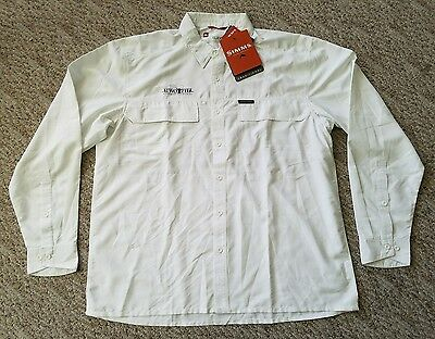 New with Tags Rare Simms EBBTIDE Long Sleeve Shirt Size XL Color White TWO FLY
