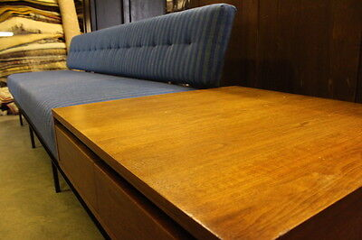 Vintage Mid-Century Sofa/End Table Combination Designed by Florence Knoll 120""