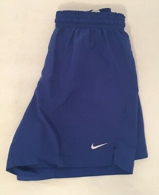 NIKE Dri-Fit Youth Large Boy's Soccer Shorts Blue