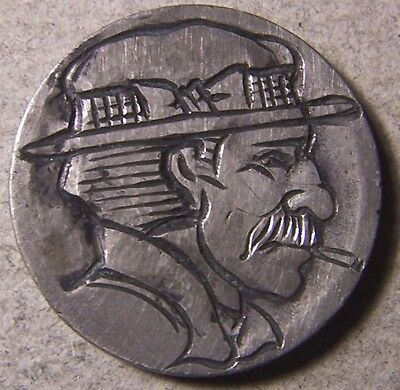 """Hobo Nickel, Engraved, Carved ,Scrimshaw,Coin Art ,"""" YANCY, uh ..# 4769 maybe ?"""""""