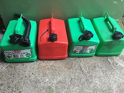 *** 4x Petrol/Fuel/Jerry Cans (5 Liter) ***