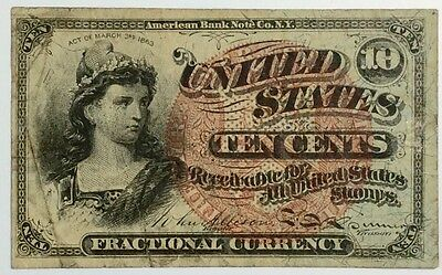 1863 United States of America 10 cents Fractional currency