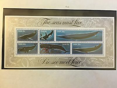 1980 South West Africa Whales Set - Mini Sheet & all 6 separate MNH