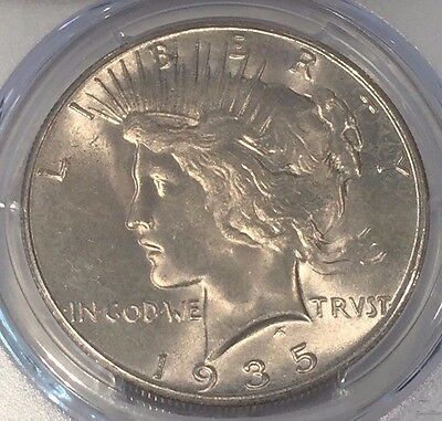 1935-S Peace Dollar PCGS MS-65 : A Solid Strike & Appealing White Mint Luster