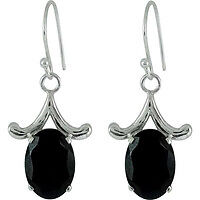 Big Grand Love ! Garnet 925 Sterling Silver Earrings