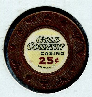 Gold Country 25c Oroville CA   Damage  CG58963 Additional Chips Ship for 25c !