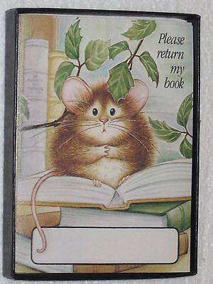 Vintage Antioch Sticker Bookplates Please Return My Book Mouse Reading Set Of 29