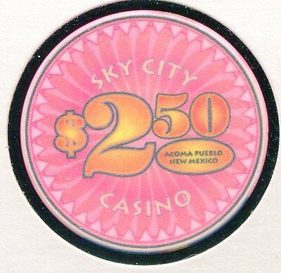Sky City $2-50 Acoma  NM  CG7701 Additional Chips Ship for 25c !