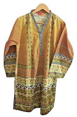 New, Motifz, Pakistani Indian, Ethnic, Lawn Shirt,Kurta,Top,Designer, Size Large
