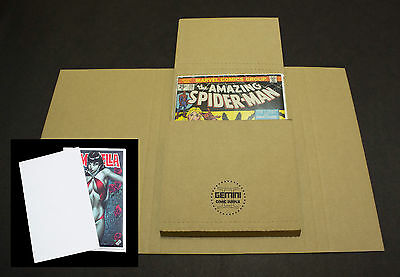100 GEMINI Comic Book Flash Mailers + 400 Divider Pads Combo (Best protection!)*