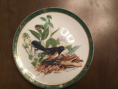 Danbury Mint 1990 Towhee Plate - The Songbirds of Roger Tory Peterson Collection