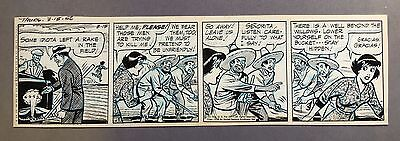 "Ella Cinders Daily strip 3-15-56, Original art by Fred Fox, ""Gracias! Gracias!"""