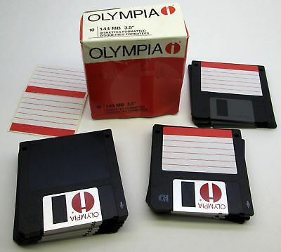 "OLYMPIA Floppy Diskette Blank 3.5"" Disks Lot of 15 IBM PC 2SHD 1.44MB formatted"