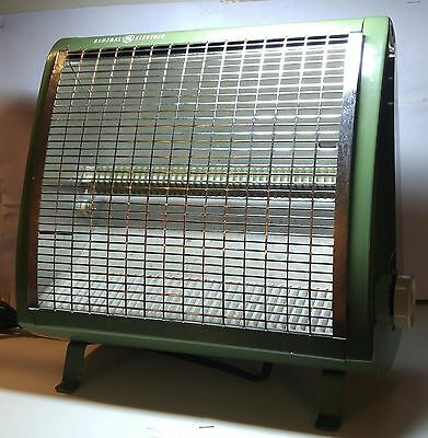 General Electric Radiant Heater 1000 Watts | Olive Green AH20M | Tested Working