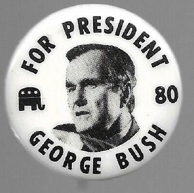 George Bush For President 1980 Political Campaign Pin Button