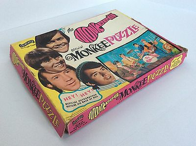 MONKEES VINTAGE PUZZLE TOY GAME - 1967 - INCOMPLETE In Box 327 Pieces
